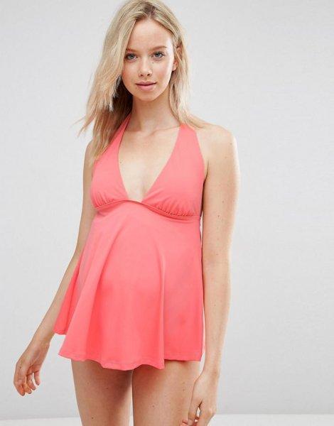 Bikinis y bañadores para embarazadas 2016  ASOS tankini rosa. Bikinis y  bañadores para embarazadas 2016  ASOS tankini rosa eff8cc4ad6b0
