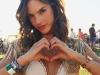 Coachella 2016 famosos en Instagram: Alessandra Ambrosio primer plano