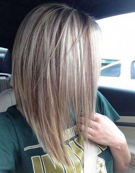 Corte de pelo bob largo rubio
