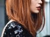 Corte de pelo long bob: liso con flequillo