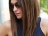 Corte de pelo long bob: liso con raya lateral