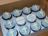 Cupcakes de Comunión: Azul y blanco