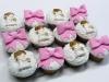 Cupcakes de Comunión: Rosa y blanco