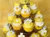 Cupcakes de Comunión: amarillos
