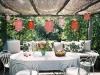 Decoración de terrazas y patios: lámparas de papel