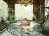 Decoración de terrazas y patios: mesas y sillas de forja