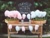 Decoración de Comunión: mesa con algodones de ázucar