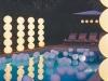Decoración para una fiesta de cumpleaños en la piscina: globos
