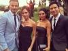 Eva Longoria y Pepe Bastón boda en México: Mario López con David y Victoria Beckham