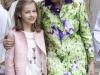 Familia Real en la Misa de Pascua en Mallorca 2016: Princesa Leonor y Doña Sofía