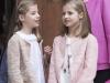 Familia Real en la Misa de Pascua en Mallorca 2016: Reina Letizia con sus hijas