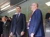 Felipe VI debut de España en la Eurocopa de Francia 2016: en el palco con el Primer Ministro de la República Checa