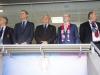 Felipe VI debut de España en la Eurocopa de Francia 2016: en el palco durante los himnos