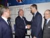 Felipe VI debut de España en la Eurocopa de Francia 2016: saludando a Vicente Del Bosque