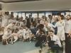La Infanta Sofía y el Rey Felipe en el Santiago Bernabéu: en el vestuario con los jugadores