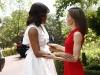 La Reina Letizia y Michelle Obama en Madrid: hablando