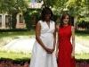 La Reina Letizia y Michelle Obama en Madrid: posado para la prensa