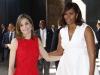 La Reina Letizia y Michelle Obama en Madrid: posando