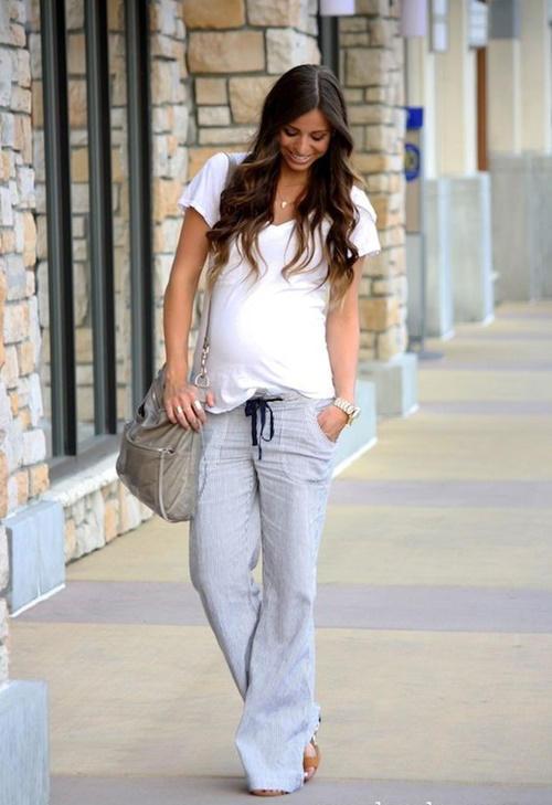 Looks para embarazadas de primavera  pantalones fluidos. Looks para  embarazadas de primavera  pantalones fluidos d326cf710892