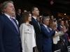 Los Reyes en la final de la Copa del Rey 2016: durante el himno en el palco