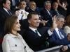 Los Reyes en la final de la Copa del Rey 2016: saludando