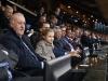 Princesa Leonor y el Rey Felipe VI partido de Champions en el Vicente Calderón: en el palco siguiendo partido