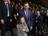 Princesa Leonor y el Rey Felipe VI partido de Champions en el Vicente Calderón: portada
