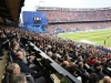 Princesa Leonor y el Rey Felipe VI partido de Champions en el Vicente Calderón: vista desde el palco