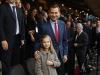 Princesa Leonor y el Rey Felipe VI partido de Champions en el Vicente Calderón: palco