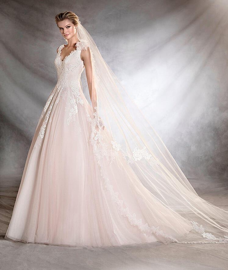 Vestido novia rosa pronovias