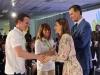 Reina Letizia look floral de Zara: entregando un premio