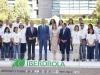 Reina Letizia look floral de Zara: posando junto al Rey