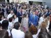Reina Letizia look floral de Zara: con el público