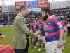 Rey Felipe VI fiesta del rugby en Valladolid: Quesos Entrepinares
