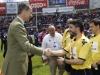 Rey Felipe VI fiesta del rugby en Valladolid: equipo arbitral