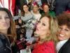 Rosa Benito y Gloria Camila en la Feria de Abril 2016: Rosa Benito, Nagore Robles y Raquel Bollo