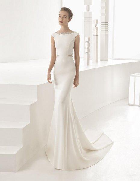 vestidos de novia sencillos rosa clara – vestidos baratos