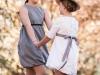Vestidos de ceremonia para niñas 2016: Navascués azul y blanco