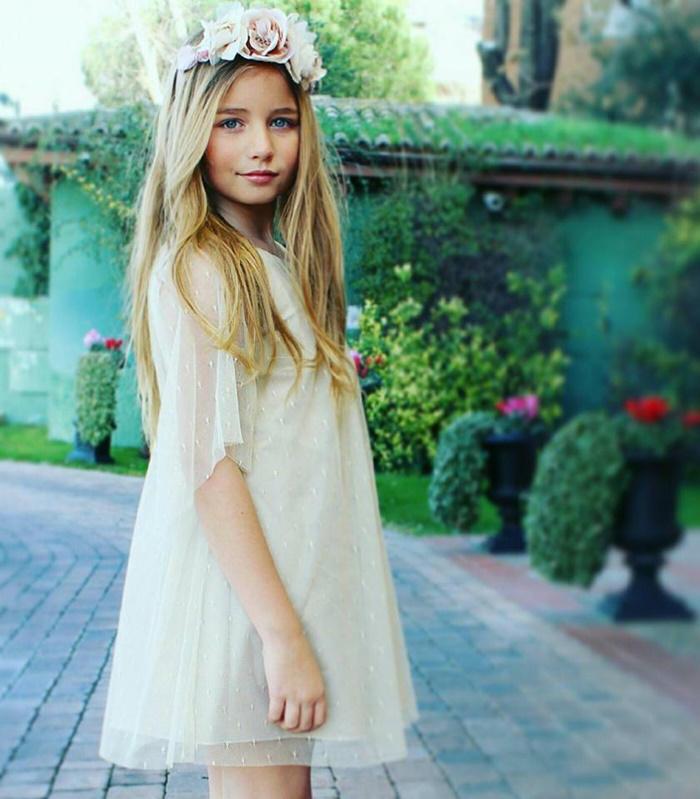 9da87595e Vestidos de ceremonia para niñas 2016  Mi Vestido modelo blanco. Vestidos  de ceremonia para niñas 2016  Mi Vestido modelo blanco