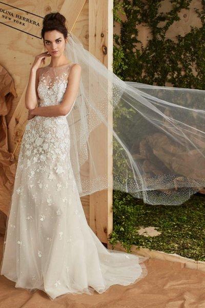 vestidos de novia carolina herrera 2017, elegancia y romanticismo