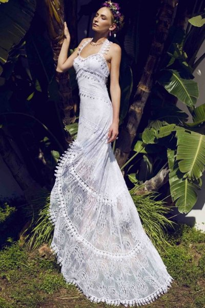 vestidos de novia ibicencos 2016, pon el toque boho a tu boda [fotos
