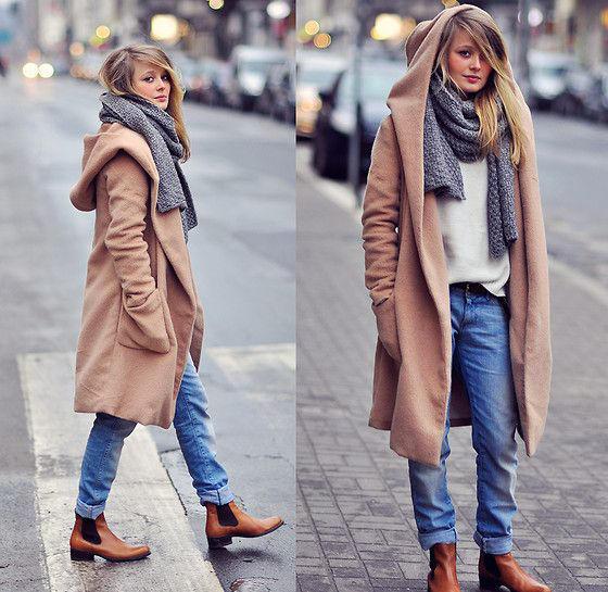 Como llevar un abrigo oversize