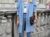 Abrigos oversize: look azul