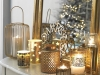Adornos de Navidad Maisons Du Monde 2017: Collection Gold velas doradas