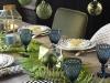 Adornos de Navidad Maisons Du Monde 2017: Collection Green mesa y vajilla