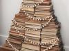 Adornos de Navidad vintage: árbol de libros