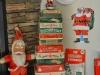 Adornos de Navidad vintage: cajas y Papa Noel