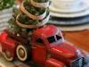 Adornos de Navidad vintage: centro de mesa