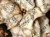 Adornos de Navidad vintage: flor de papel