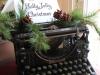 Adornos de Navidad vintage: máquina de escribir